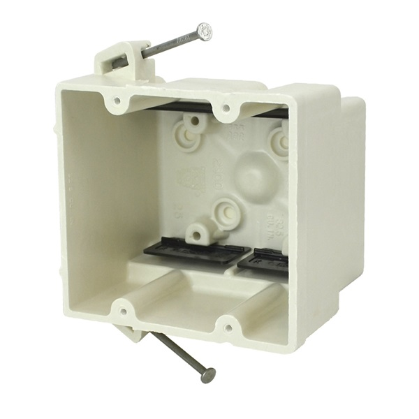 Picture of Allied Moulded FiberglassBOX 2300-NK Electrical Wall Box, 2-Gang, Fiberglass/Polyester, Beige/Tan
