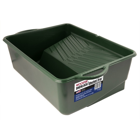 Picture of WOOSTER SHERLOCK BR414-14 Bucket Paint Tray, 1 gal Capacity, Polypropylene, Green