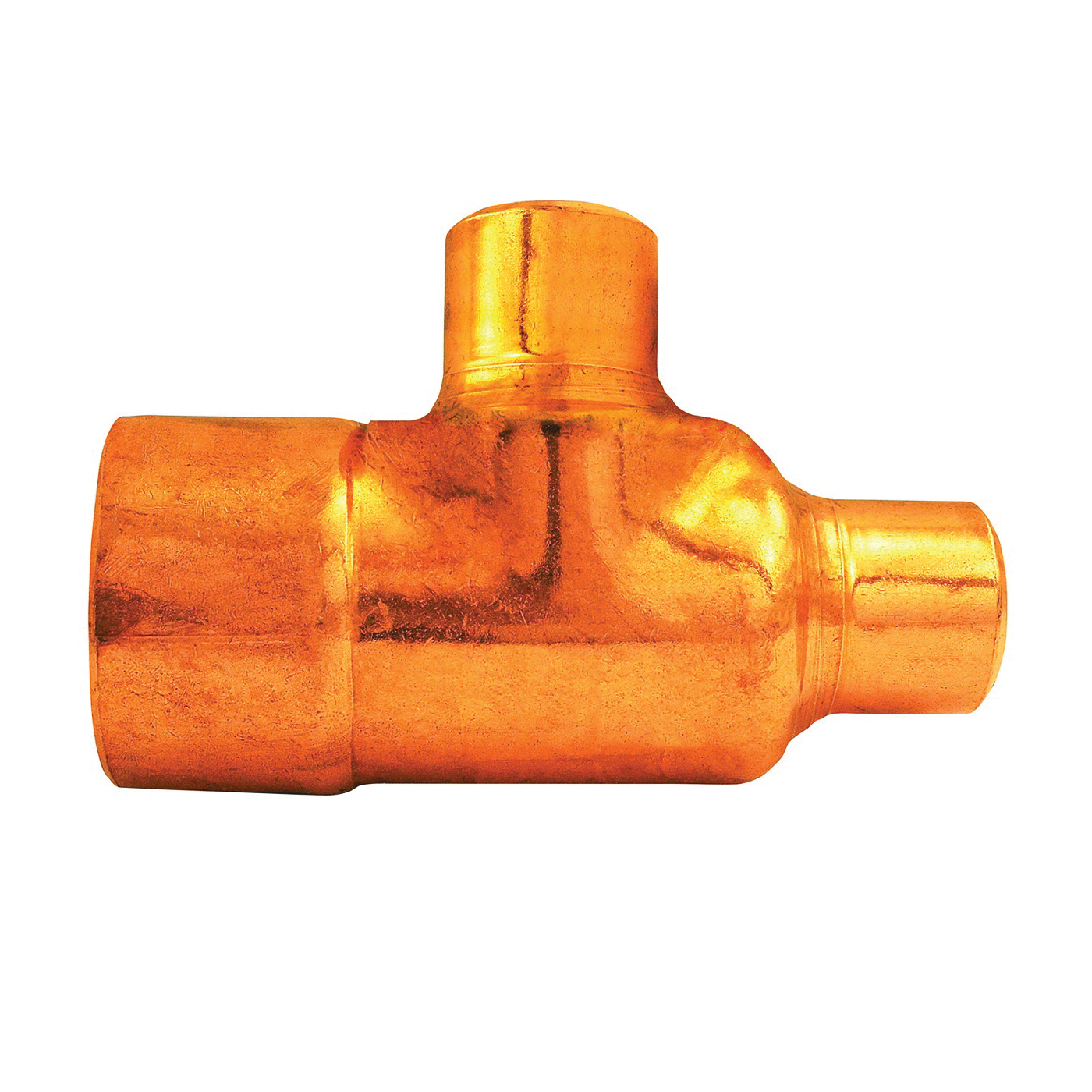Picture of EPC 111R Series 32838 Pipe Reducing Tee, 1 x 3/4 x 3/4 in, Sweat, Copper
