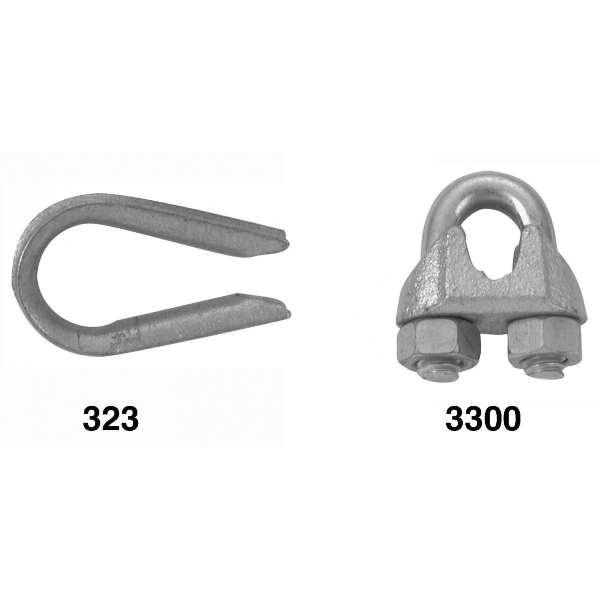 Picture of Campbell T7670409 Wire Rope Clip, Malleable Iron, Electro-Galvanized