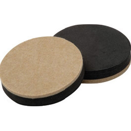 Picture of Shepherd Hardware 9407 Slider Pad, Felt Cloth, Beige, 3-1/2 in Dia, 1/2 in Thick, Round
