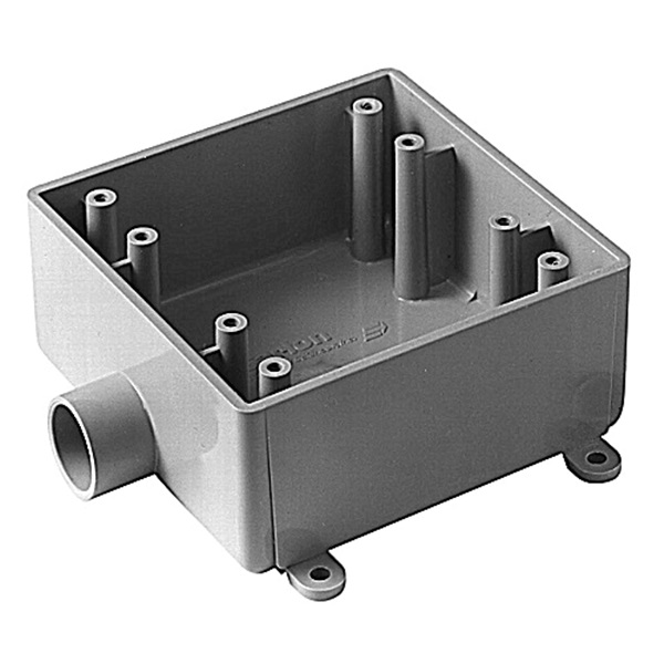 Picture of Carlon E9802DR Electrical Junction Box, 2-Gang, PVC