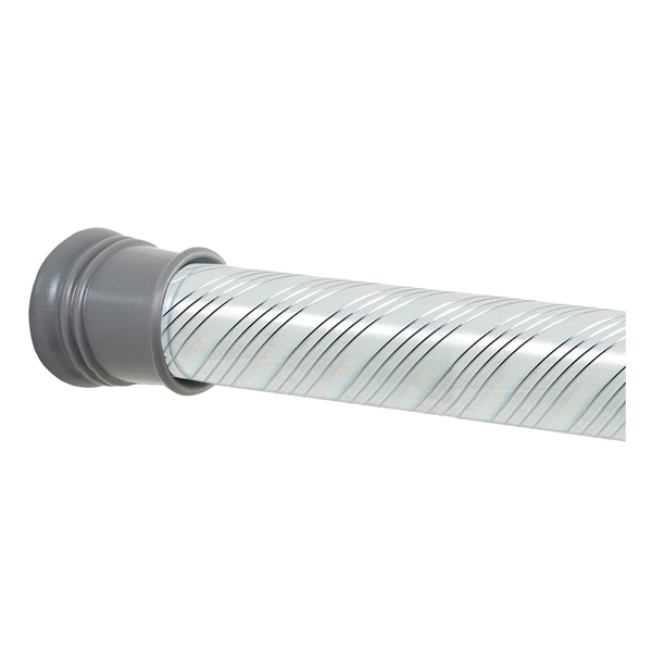 Picture of Zenna Home TwistTight 801SS/804SS Shower Curtain Rod, 43 to 72 in L Adjustable, 1-1/4 in Dia Rod, Plastic/Steel
