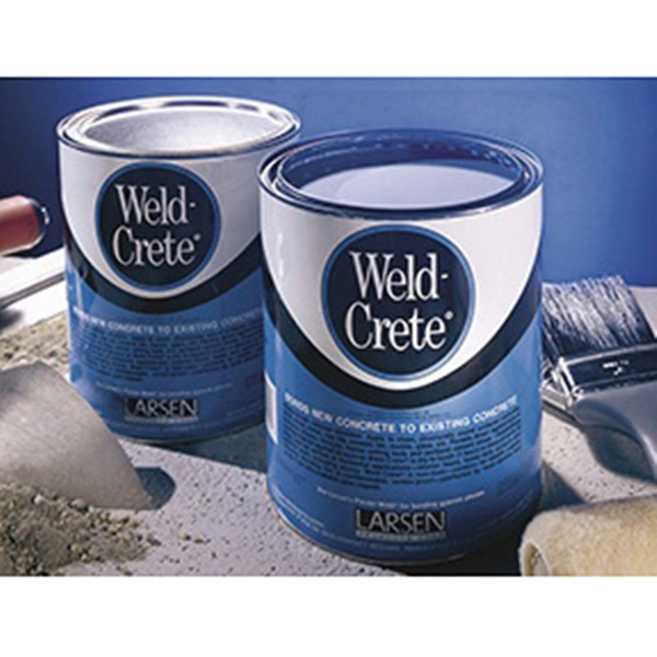 Picture of Larsen Weld-Crete WCP05 Bonding Agent, Liquid, Low to Slight Acetic, Blue, 5 gal Package, Pail