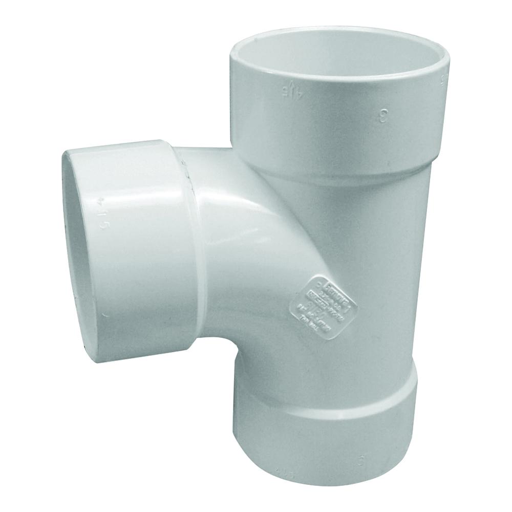 Picture of GENOVA 400 41160 Sanitary Tee, 6 in, Hub, PVC, White