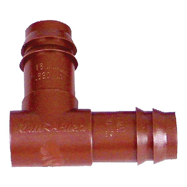 Picture of Rain Bird BE50/4PK Drip Irrigation Elbow, 1/2 in Connection, Barb, Plastic, Brown