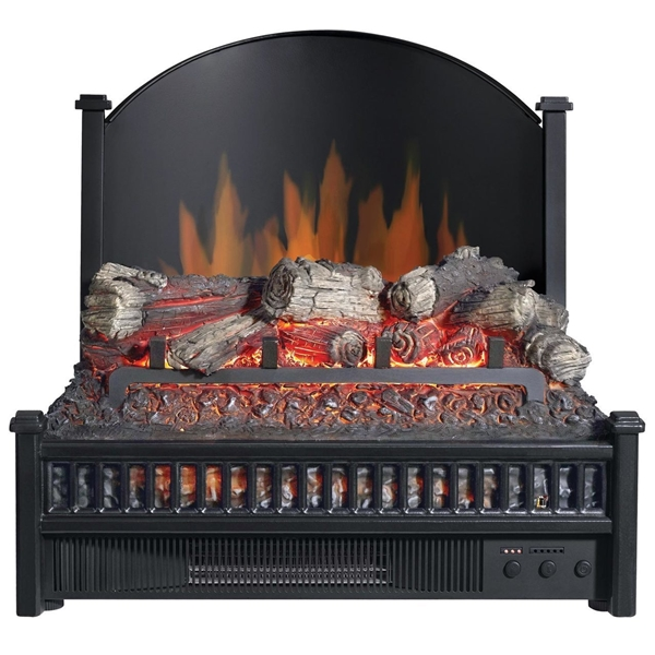 Picture of Comfort Glow ELCG347 Electric Log Insert with Rear Reflecting Panel, 4600 Btu, Black