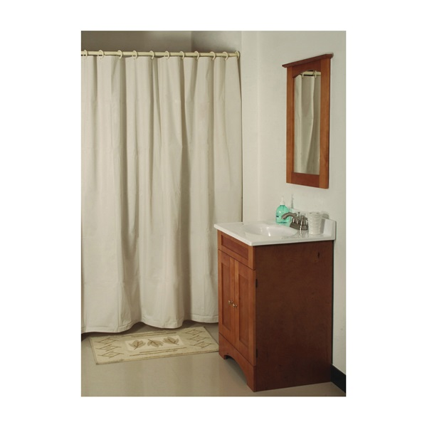 Picture of Simple Spaces SD-MCP01-B3L Shower Curtain, 72 in L, 70 in W, Vinyl, Beige
