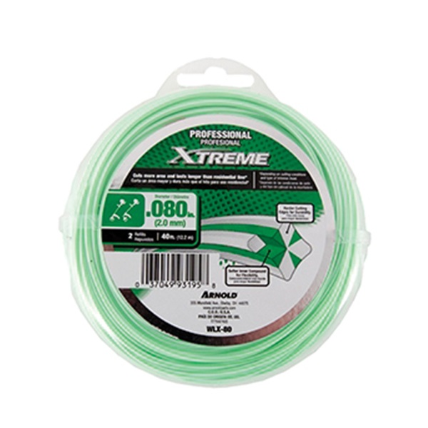 Picture of Arnold Xtreme Professional WLX-80 Trimmer Line, 0.08 in Dia, 40 ft L, Monofilament