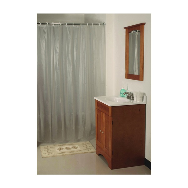 Picture of Simple Spaces SD-MCP01-F3L Shower Curtain, 72 in L, 70 in W, Vinyl, Frosted