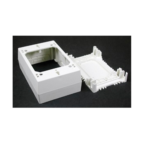 Picture of Legrand Wiremold NMW Series NMW35 Outlet Box, 1-Gang, 0-Knockout, Plastic, White, Wall Mounting
