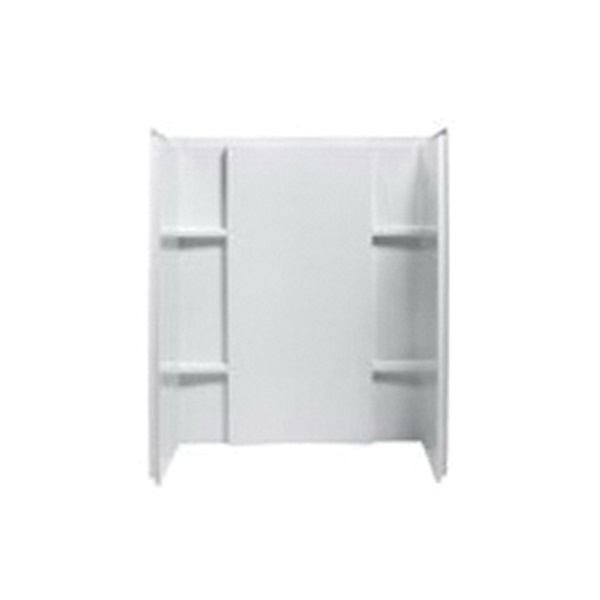 Picture of Sterling Accord 72284100-0 Complete 3-Pc Wall Set, 48 in W, 36 in H, Vikrell, White, High-Gloss