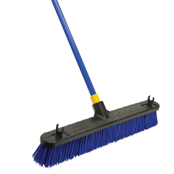 Picture of Quickie 00599 Push Broom, 24 in Sweep Face, Poly Fiber Bristle, Steel Handle