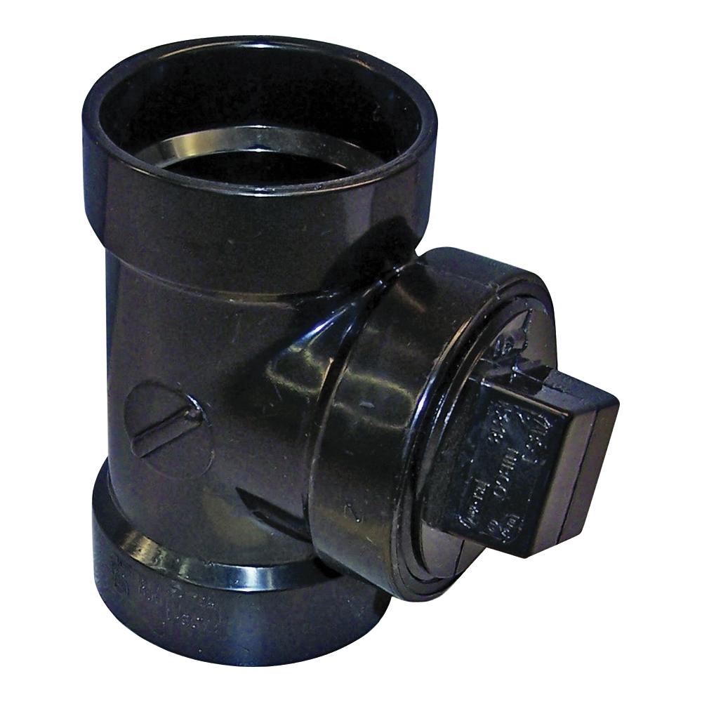 Picture of GENOVA 800 81315 Pipe Test Tee, 1-1/2 in, Hub x Hub x FIP, ABS, SCH 40 Schedule
