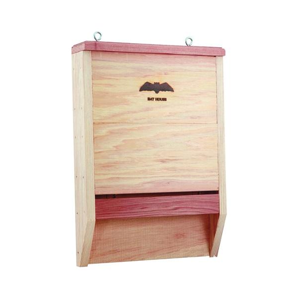 Picture of HEATH BAT-1 Bat House, 2-1/2 ft W, 11-1/2 ft D, 16-1/4 ft H, Cedar Wood