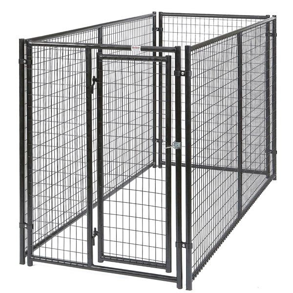 Picture of Behlen Country 38100337 Complete Magnum Dog Kennel, 5 ft OAL, 10 ft OAW, Zinc, Gray