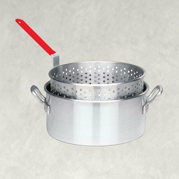 Picture of Bayou Classic 1201 Fryer Pot, 10 qt Capacity, 18 Gauge, Aluminum, Riveted Handle