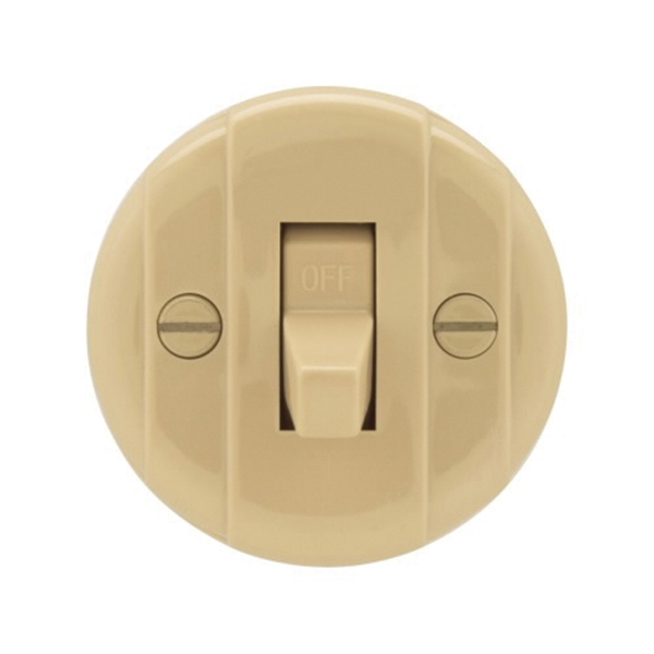 Picture of Eaton Wiring Devices 735V-BOX Switch, 10 A, 125/250 V, Lead Wire Terminal, Plastic Housing Material, Ivory
