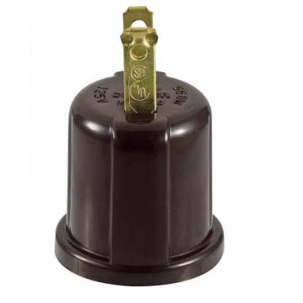Picture of Eaton Wiring Devices 738B-BOX Outlet Adapter, 660 W, 2-Outlet, Thermoplastic, Brown
