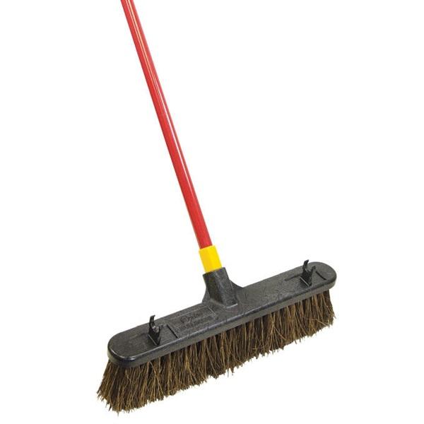 Picture of Quickie Bulldozer 00541 Push Broom, Palmyra Fiber Bristle, Steel Handle