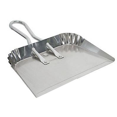 Picture of Rubbermaid Professional Plus 9W90-PR Dustpan, 17 in L, 20 in W, Aluminum, Silver