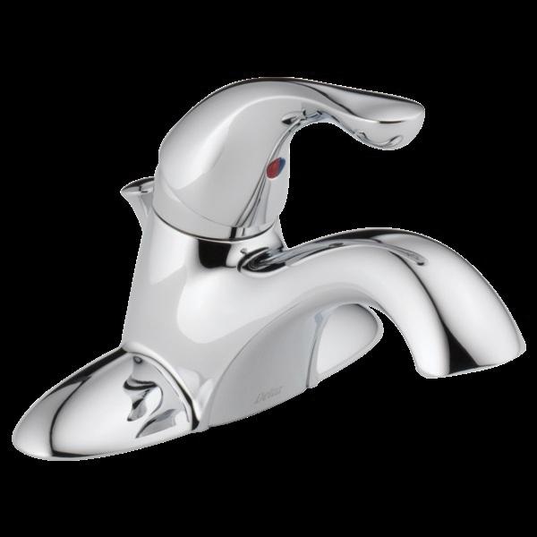 Picture of DELTA Classic 520-DST Bathroom Faucet, 1.2 gpm, 1-Faucet Handle, Brass, Chrome, Lever Handle, Rigid Spout