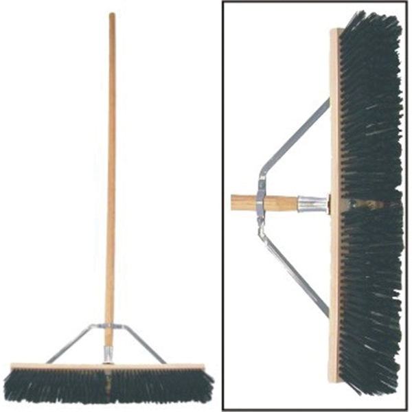 Picture of BIRDWELL 5027-4 Contractor Push Broom, 3 in L Trim, Polystyrene Bristle, Hardwood Handle