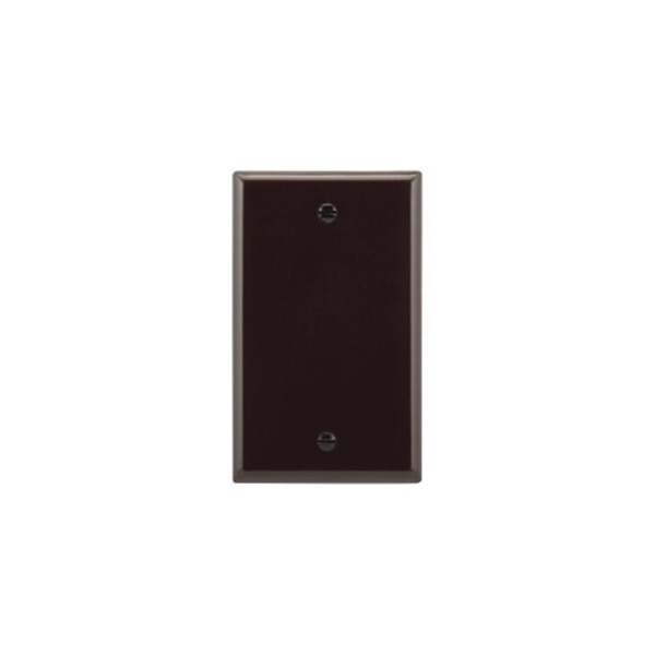 Picture of Eaton Cooper Wiring 2129 Series 2129B-BOX Wallplate, 3-1/2 in L, 5-1/4 in W, 1/4 in Thick, 1-Gang, Thermoset