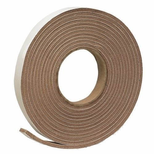 Picture of Frost King V443BH Foam Tape, 3/8 in W, 17 ft L, 3/16 in Thick, Vinyl, Brown