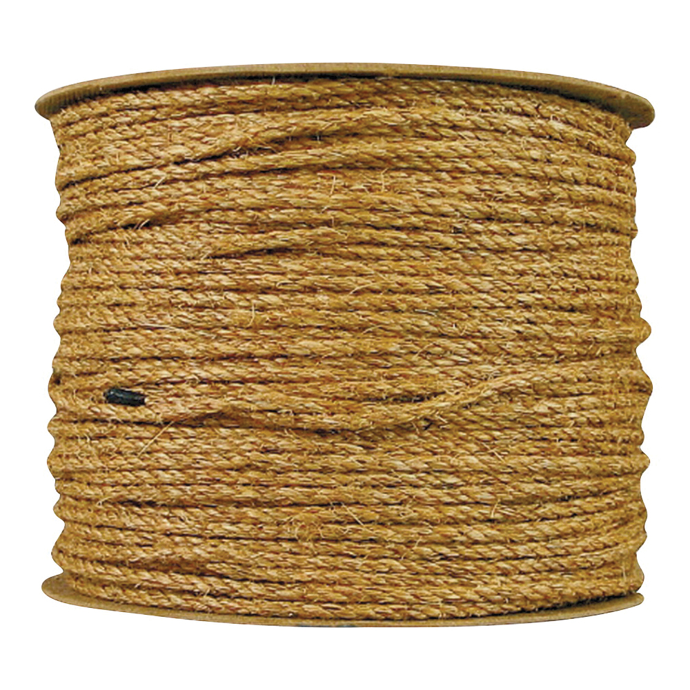 Picture of T.W. Evans Cordage 25-001A Rope, 1/4 in Dia, 1200 ft L, Manila, Natural, Spool