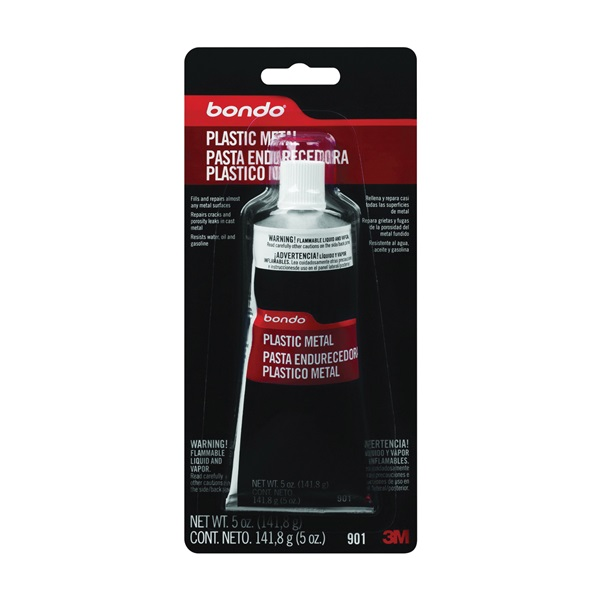 Picture of Bondo 901 Plastic Metal Seal, 5 oz Package, Tube, Paste, Solvent