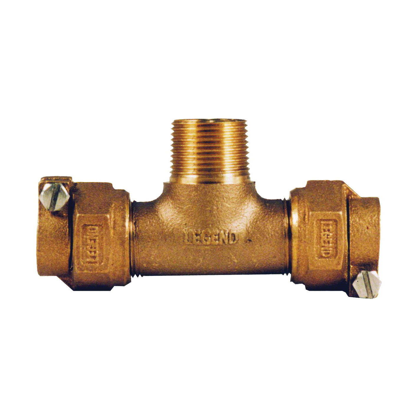 Picture of Legend T-4440NL 313-384NL Pipe Tee, 3/4 in, Pack Joint x MNPT, Bronze, 100 psi Pressure