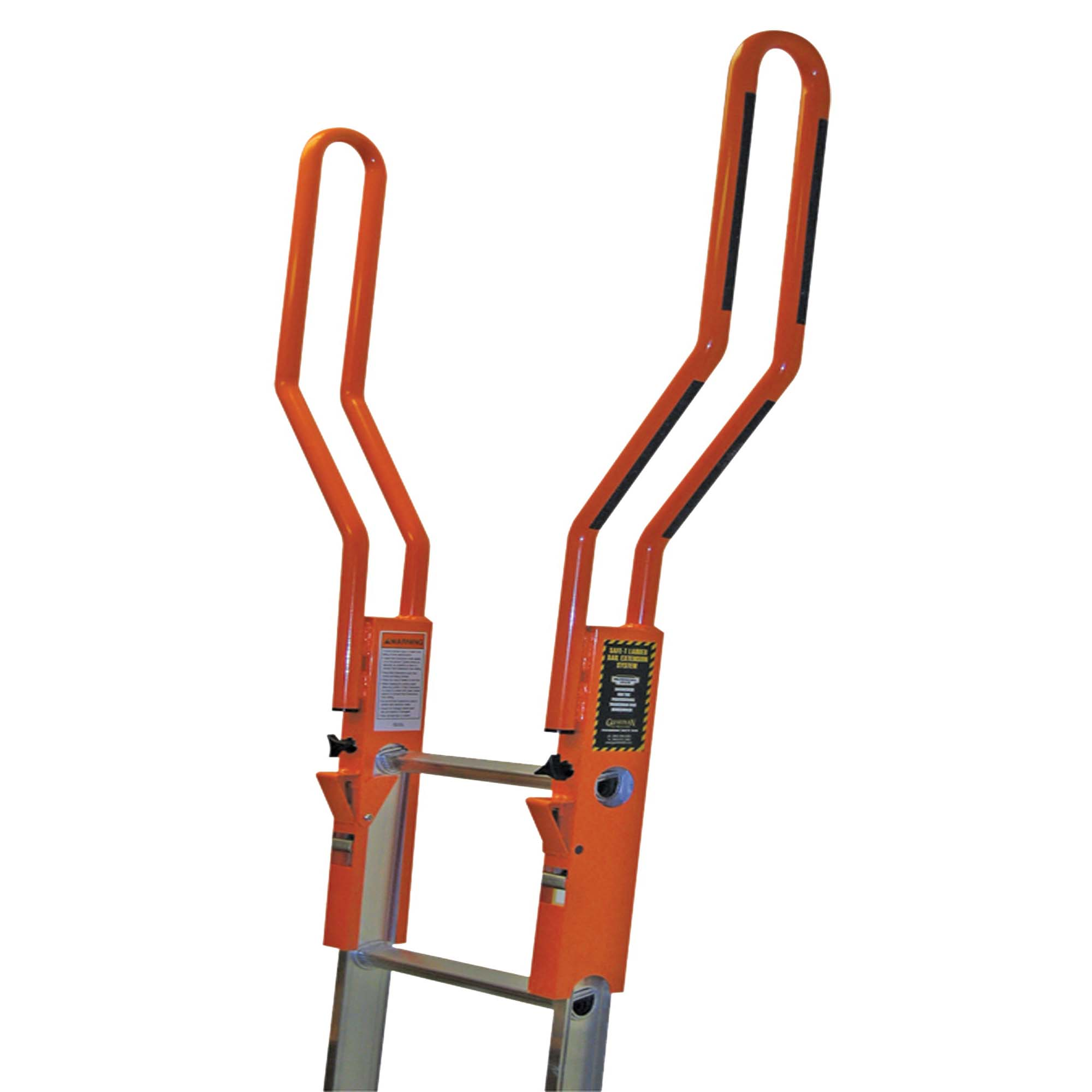 Picture of Guardian Fall Protection Safe-T 10800 Ladder Extension System, Aluminum, Black/Orange, Powder-Coated