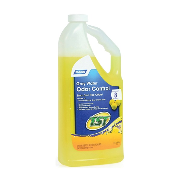 Picture of CAMCO TST 40252 Gray Water Odor Control, 32 oz Package, Bottle, Liquid, Lemon