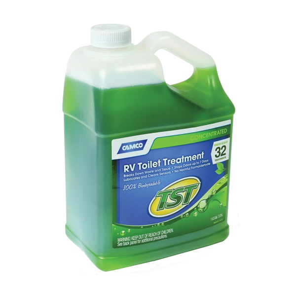 Picture of CAMCO TST 40227 RV Toilet Treatment, 1 gal Package, Bottle, Liquid, Fresh Fragrance