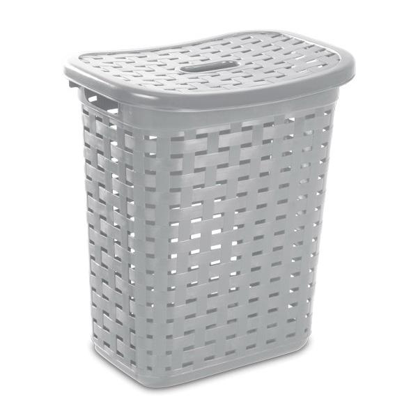 Picture of Sterilite 12766A04 Weave Laundry Hamper, Cement, 13-5/8 in W, 22-3/8 in H, 19-7/8 in D