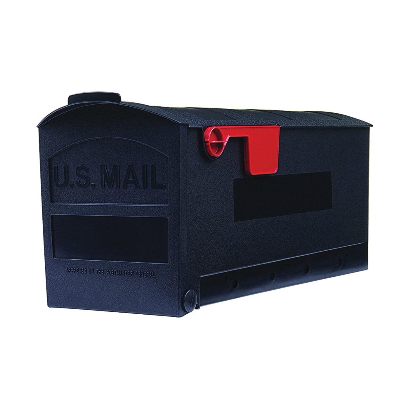 Picture of Gibraltar Mailboxes Patriot GMB505B01 Rural Mailbox, 1000 cu-in Capacity, Plastic, 8.4 in W, 20-1/2 in D, 9.8 in H
