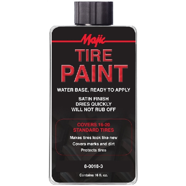 Picture of Majic Paints 8-0018-3 Ready-to-Apply Tire Paint, Black, 16 oz