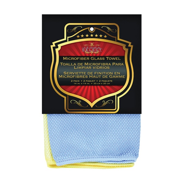 Picture of SM ARNOLD 25-862 Cleaning Towel, Blue/Yellow, 14 in