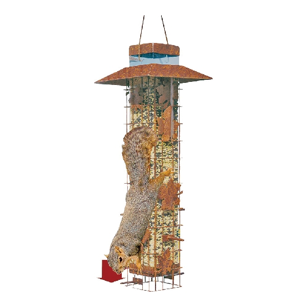Picture of Perky-Pet 336 Wild Bird Feeder, 18-1/4 in H, Rustic Leaf, 2 lb, Metal, Hammered Bronze, Hanging Mounting
