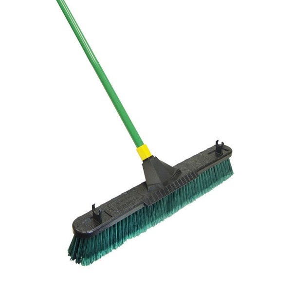 Picture of Quickie 00638 Push Broom with Scraper, 24 in Sweep Face, Polypropylene Bristle, Steel Handle