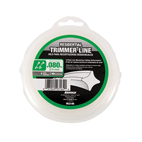 Picture of ARNOLD WLS-80 Trimmer Line, 0.08 in Dia, 40 ft L, Nylon