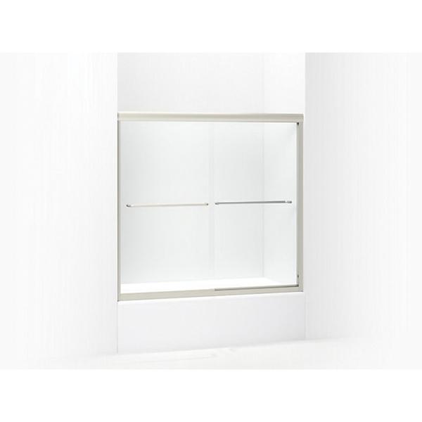 Picture of Sterling Finesse 5425-59N-G05 Bath Door, Frameless Frame, Aluminum Frame, Clear Glass, Tempered Glass, Sliding Door