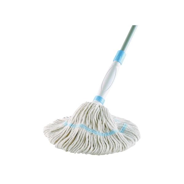 Picture of Quickie HomePro 035-4 Wet Mop, 54 in L, Cotton Mop Head, Steel Handle
