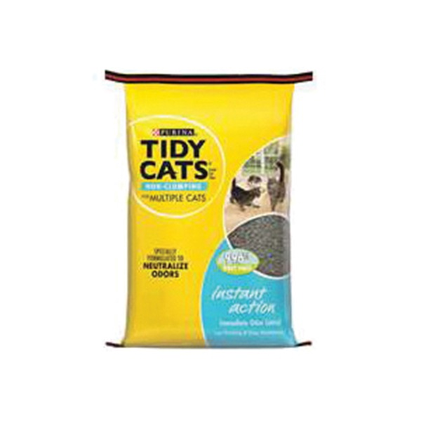 Picture of Tidy Cats Instant Action 7023010770 Cat Litter, 20 lb Capacity, Gray/Tan, Granular, Bag