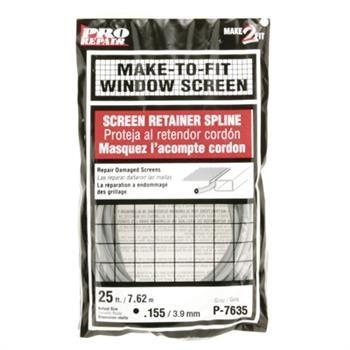 Picture of Make-2-Fit P 7635 Screen Retainer Spline, 25 ft L, Vinyl, Gray, Round