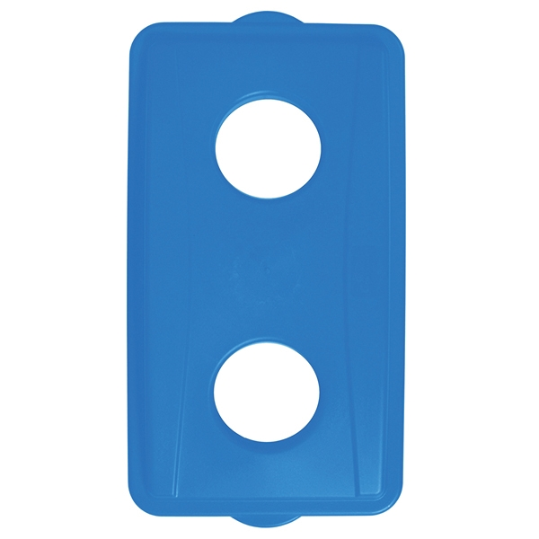 Picture of CONTINENTAL COMMERCIAL Wall Hugger 7316BL Receptacle Lid, Plastic, Blue