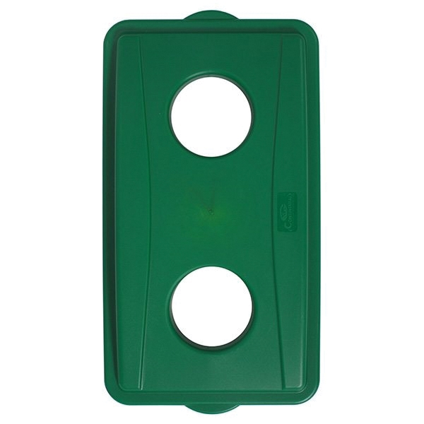 Picture of CONTINENTAL COMMERCIAL Wall Hugger 7316GN Receptacle Lid, Plastic, Green