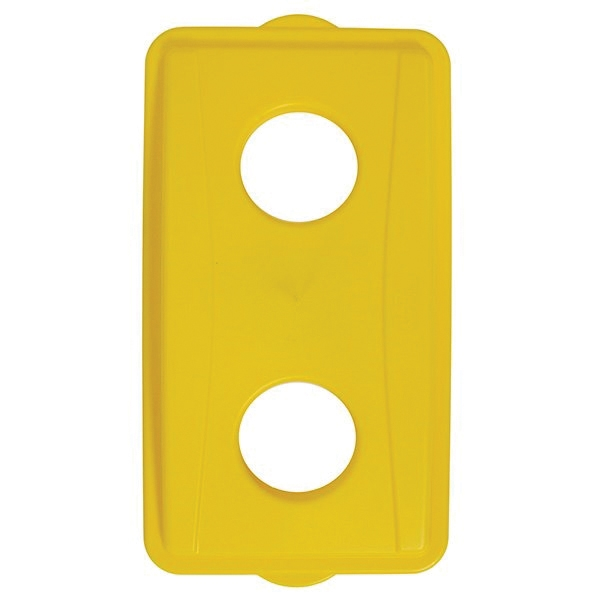Picture of CONTINENTAL COMMERCIAL Wall Hugger 7316YW Receptacle Lid, Plastic, Yellow