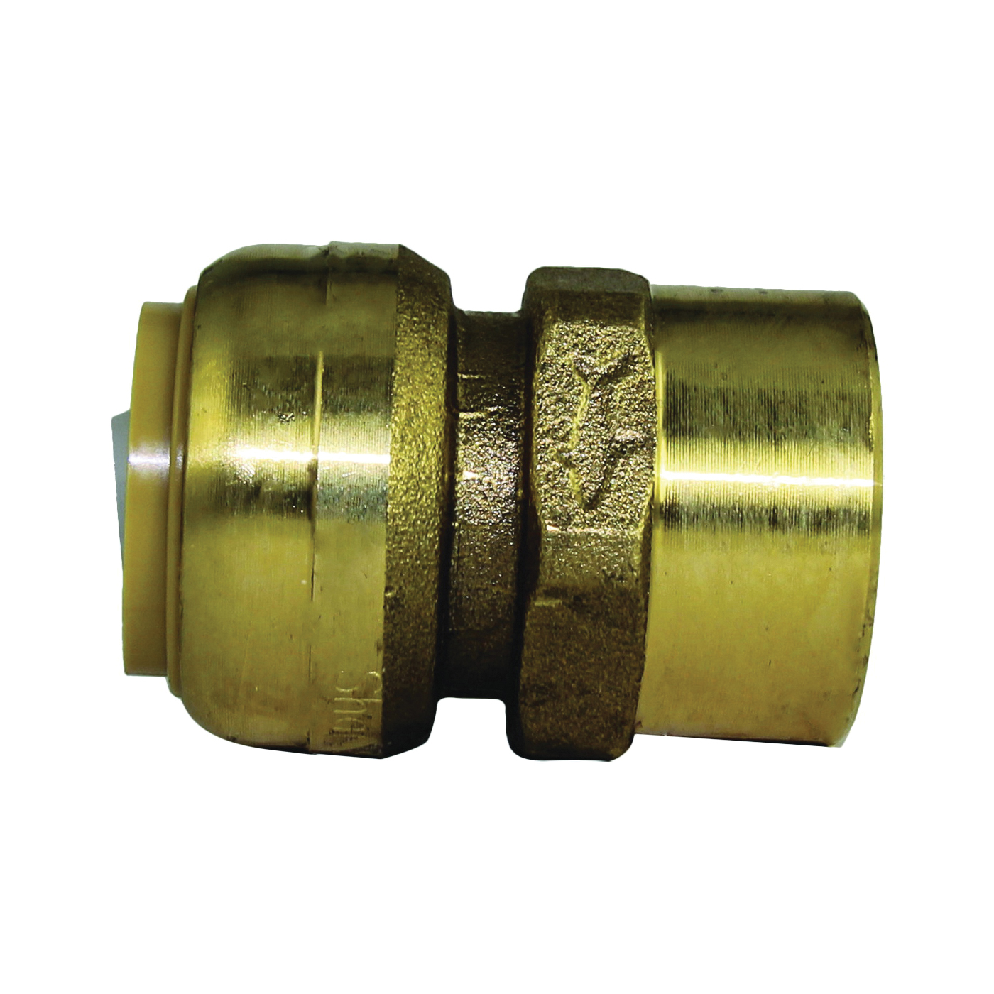 Picture of SharkBite U088LFA Pipe Connector, 3/4 in, FNPT x FNPT, Brass, 200 psi Pressure